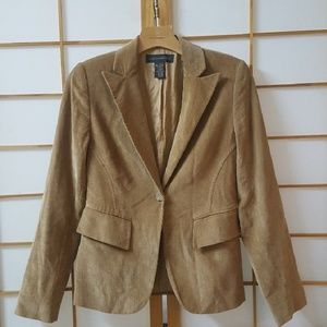 Banana Republic Corduroy Tan Blazer